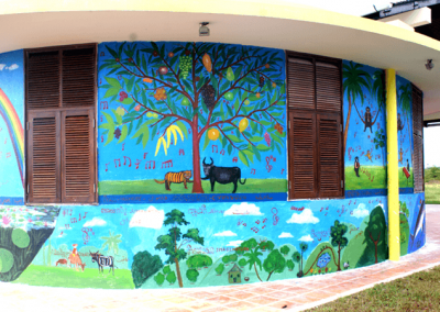 Mural with tree of life