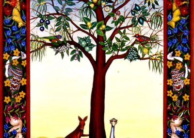 Animal guarding Tree of Life