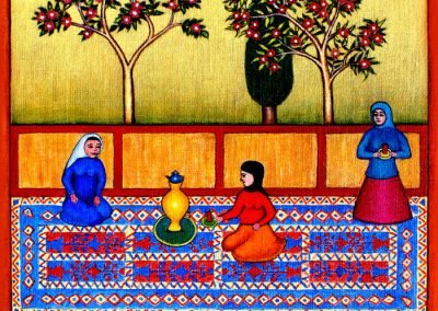 A new painting based on old Persian miniature